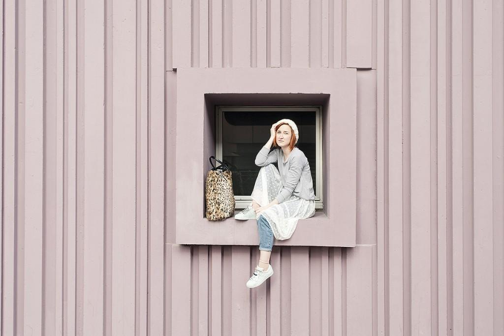 LLooks des blogueuses du groupe 1P10S pour Mode by Cache Cache, Streetstyle de la blogueuse Slanelle par Virginie Zilbermann
