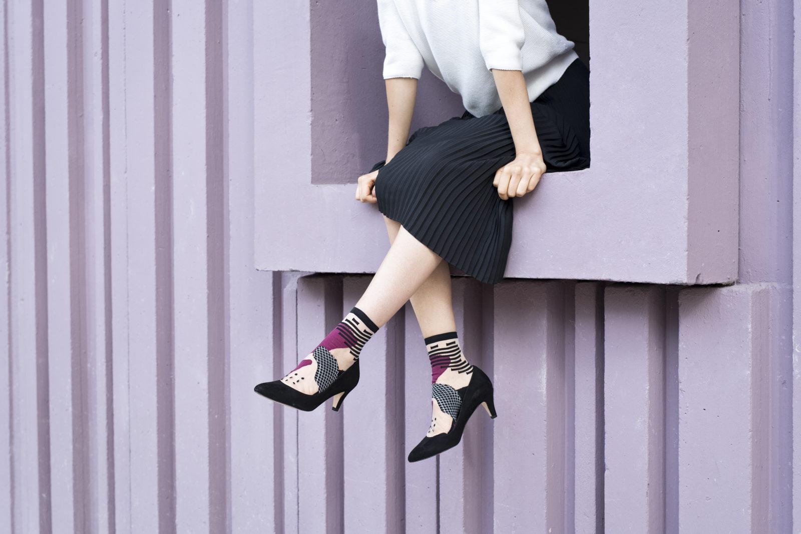 Virginie Zilbermann, photographe, chaussettes, Atelier St Eustache, Shooting photo professionnel Avignon, Photo créateur, marque française, mode