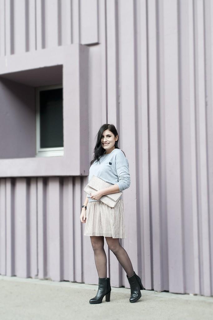 Looks des blogueuses du groupe 1P10S pour Mode by Cache Cache, Streetstyle de la blogueuse Justine Ramos par Virginie Zilbermann