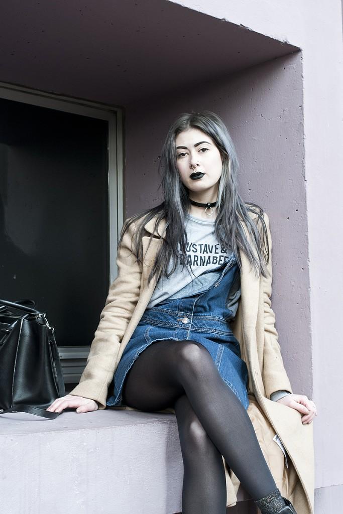 Looks des blogueuses du groupe 1P10S pour Mode by Cache Cache, Streetstyle de Léopoldine du blog Cannibalecore par Virginie Zilbermann